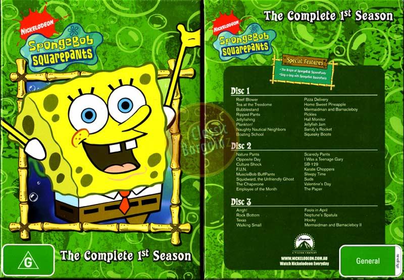 Spongebob Seasons Dvd Season Dvd Make Spongebob